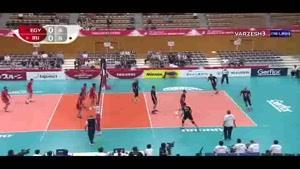 خلاصه بازی والیبال ایران و مصر در  رقابت های جام جهانی ژاپن