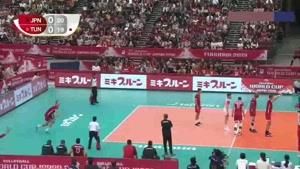 خلاصه بازی والیبال ژاپن - تونس