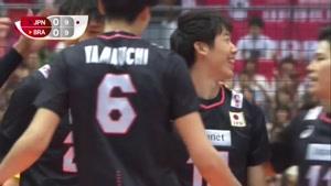 خلاصه بازی والیبال ژاپن و برزیل