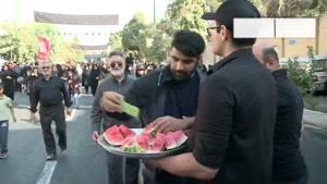 پیاده روی جامانده های اربعین  در تهران