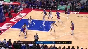 خلاصه بسکتبال NBA آتلانتا هاوکیمگ vs دیترویت پیستونز
