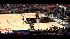 خلاصه بسکتبال NBA  لس آنجلس کلیپرز vs دنور ناگتس