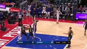 خلاصه بسکتبال NBA ایندیانا پیسر vs دیترویت پیستونز