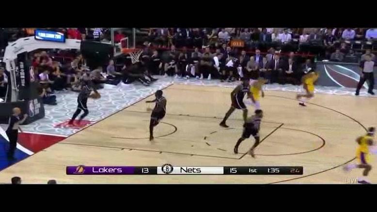 خلاصه بسکتبال NBA لس آنجلس لیکرز vs بروکلین نتس