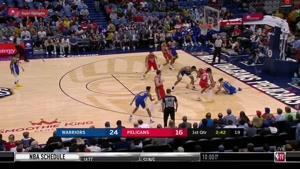 خلاصه بسکتبال NBA نیواورلانز پلیکان vs گلدن استیت