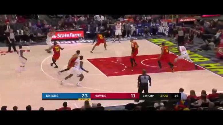 خلاصه بسکتبال NBA آتالانتا هاوکینگ vs نیویورک نیکز