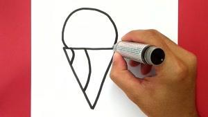 آموزش نقاشی فانتزی و بامزه بستنی های خوشمزه