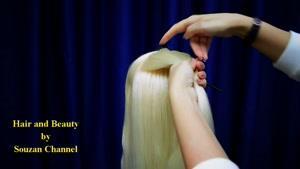 آموزش بافت موی فرانسوی پشت سر