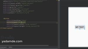 آموزش کار با button ها (دکمه ها) در برنامه نویسی اندروید android studi