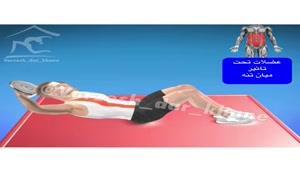 حرکت مناسب برای تقویت و فرم دهی عضلات میان تنه، شکم و زیر شکم