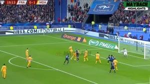 خلاصه بازی فرانسه و مولداوی - مقدماتی یورو 2020