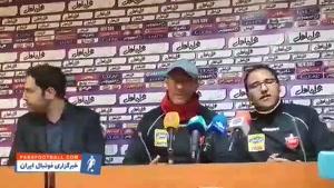 گابریل کالدرون: این بازی هم مثل بازیهای دیگر خیلی سخت خواهد بود؛ دو گلزن خارجی نیاز داریم + ویدیو