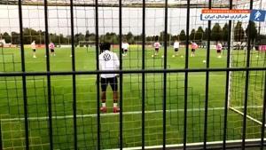 دروازه بانی گنابری در تمرینات تیم ملی آلمان