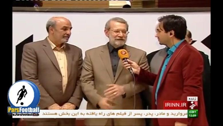 گفتگوی زنده یاسر اشراقی با دکتر علی لاریجانی رییس مجلس شورای اسلامی