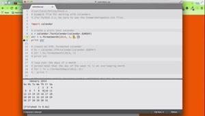 تقویم در Python پایتون - 71