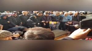 گریه سوزناک دختران ابراهیم آبادی بر سر مزار پدر