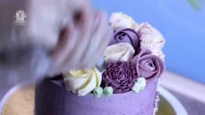 آموزش تزیین کیک با طرح های گل های مختلف