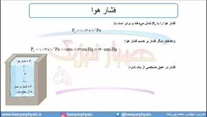جلسه 70 فیزیک دهم - فشار در شاره ها 2 - مدرس محمد پوررضا