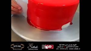 آموزش تزیین کیک به صورت هندوانه