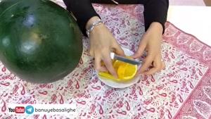 ساده ترین روش تزیین هندوانه