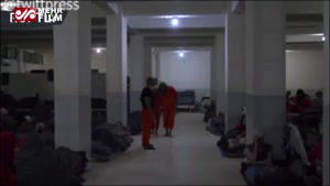 تصاویر نادر از درون زندان داعشیها در «سوریه»