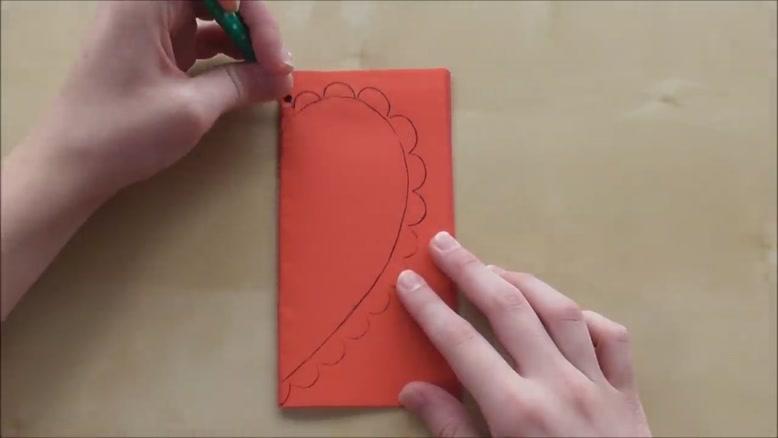 ساخت کارت پستال قلب با کاغذ رنگی