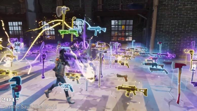 سیر تکامل بازی Evolution of Fortnite از سال 2011 تا 2018