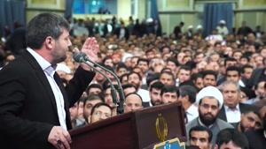 مداحی حاج نادر جوادی در محضر مقام معظم رهبری ولادت حضرت زهرا 97