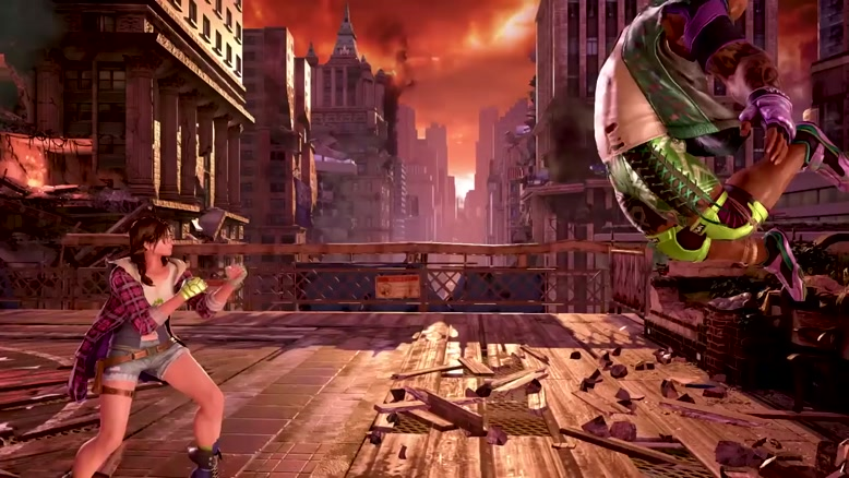 گیم پلی Julia و Negan در بازی Tekken 7