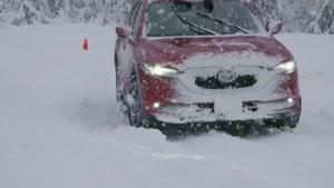 رانندگی  ماشین آفرود مزدا مدل  2019 CX-5 AWD  در برف