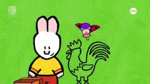 انیمیشن آموزش زبان انگلیسی  LOUIE THE DRAWING BUNNY قسمت  بیست  و شش