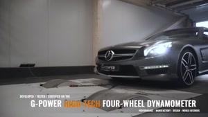 مرسدس بنز SL63 AMG با تیونینگ جی پاور معرفی شد