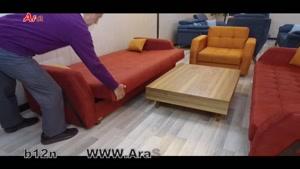 کاناپه  تختخواب شو (تخت شو) یک نفره با نشیمن سه نفره آرا سوفا مدل B۱۲n
