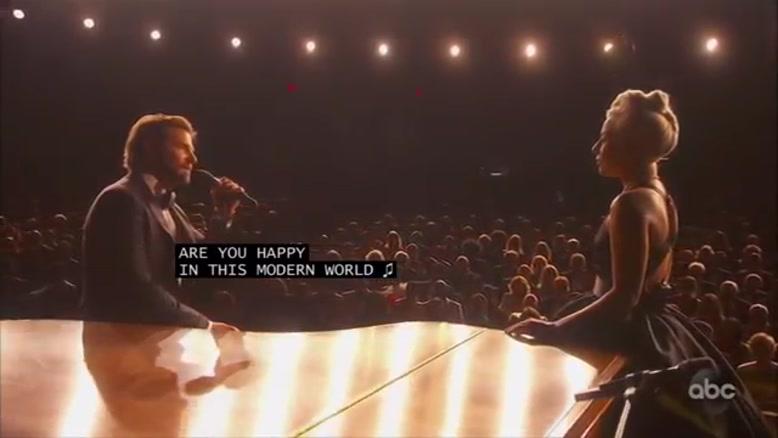 اجرای زنده بردلی کوپر و لیدی گاگا در اسکار 2019