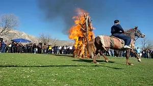 جشن نوروز ۹۸ در منطقه چیکان منصوری در گیلانغرب