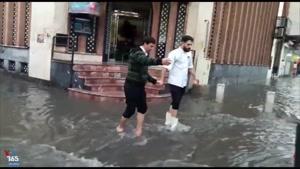 بازار وکیل شیراز در آب گرفتگی شدید