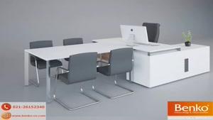 انواع میز پایه فلزی | مبلمان اداری بنکو| ۲۶۱۰۰۷۸۲