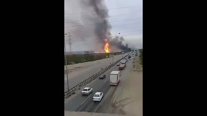 حادثه آتش سوزی در خط لوله اهواز