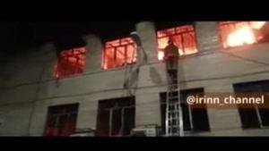 آتش سوزی بامداد امروز در پاساژ بازار تهران