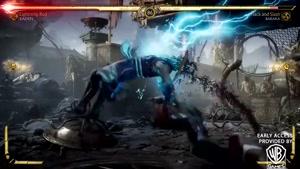 مبارزه Raiden و Baraka در بازی Mortal Kombat ۱۱