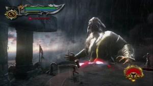 کشتن زیوس توسط خدای جنگ 3