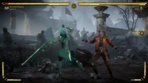 مبارزه Jade  و Sonya در بازی مورتال کومبات