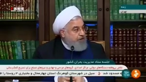 هشدار آقای روحانی در باره سد ها