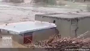 طغیان رودخانه کشکان در شهرستان پلدختر استان لرستان