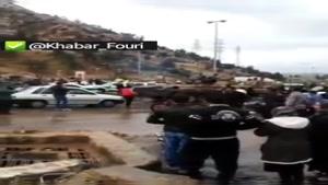 تردد تانکهای ارتش در شیراز جهت نجات گرفتار شدگان احتمالی در سیل