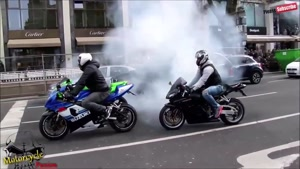 مسابقات هیجانی موتور سواری و حرکات نمایشی با موتور شماره ۹