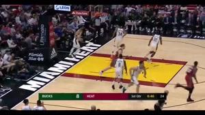 خلاصه بسکتبال NBA میامی هیت  vs میلواکی باکس