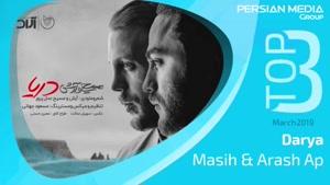 آهنگ برتر ماه مارچ از مسیح و آرش ای پی