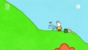 انیمیشن آموزش زبان انگلیسی  LOUIE THE DRAWING BUNNY قسمت  سی و دو