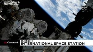لحظه جایگزینی باتریهای ایستگاه فضایی بینالمللی